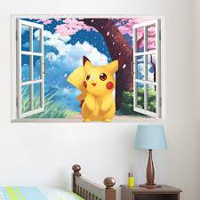 stickers muraux pour chambre populaire jeu pikachu aller stickers muraux pour enfants