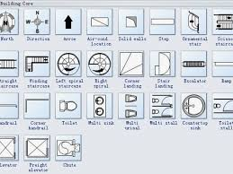 architecture floor plan symbols architectural blueprint symbols elegant architectural floor plan