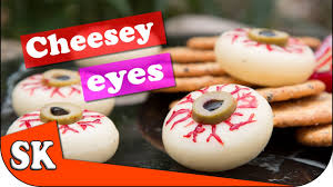 spooky cheese eyeballs halloween treat youtube