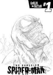 venom sketch cover superior spider man 27 comic art venom