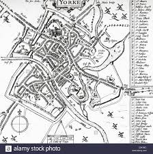 Map Of Yorkshire England by A Plan Of The City Of York Yorkshire England At The Beginning Of