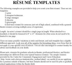 Stage Manager Resume Template Download Theatre Director Resume Template For Free Tidyform