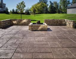 Backyard Concrete Patio Ideas by Stamped Concrete Company Howell Michigan