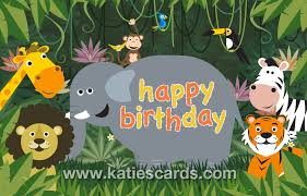 Jungle Birthday Card Birthday Ecard Of The Week Jungle Jingle E Cards