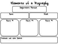 free biography graphic organizer 4th grade biography graphic organizer elementary reading pinterest