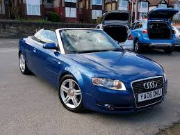 2006 audi a4 cabriolet 2 0 tfsi sport auto 2 doot convertible blue