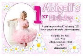 Example Of Invitation Card For Birthday 1st Birthday Invitations Ideas For U2013 Bagvania Free Printable