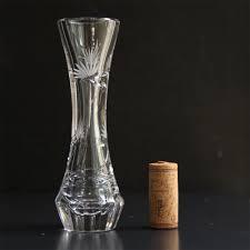 Single Stem Glass Vase Wild Clover Single Stem Vase Martinka Crystal