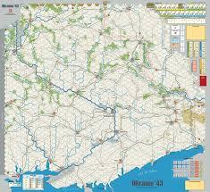 Battle Of Kursk Map Gmt Games Ukraine U002743 2nd Edition