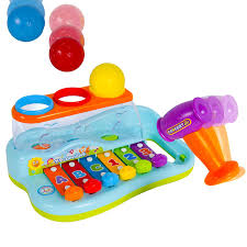 amazon com liberty imports rainbow xylophone piano pounding bench