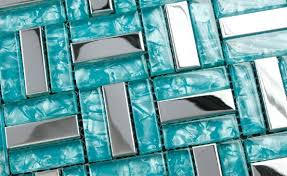 Blue Glass Tile Backsplash Sf Blue Recycle Glass Mosaic Tile - Blue glass tile backsplash