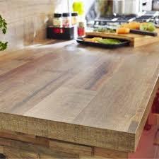 plan de travail stratifié cuisine plan de travail stratifié effet bois cabane mat l 315 x p 65 cm ep