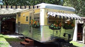 Trailer Awning Vintage Trailer Awnings By Pink Flamingo Awnings