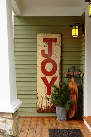 front porch christmas decorations christmas sign potted pine tree sleigh front porch