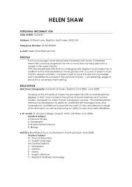 resume good examples example of profile on resume sample template