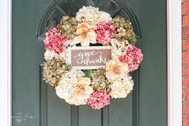 hydrangea wreath diy fall wreath with faux hydrangeas easy