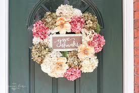 diy wreaths diy fall wreath with faux hydrangeas easy