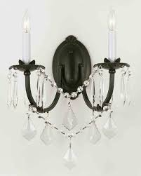 Crystal Candle Sconce Black Chandelier Wall Sconces U2022 Wall Sconces