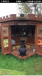 backyard shed man cave home outdoor decoration