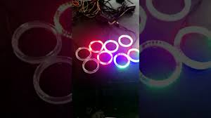 ring light effect app popular remote app control rgb cob halo ring color changing angel