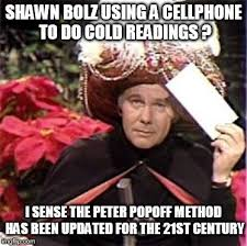 Shawn Meme - holy spirit uses smart phone to help prophet shawn bolz do cold