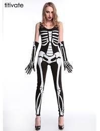 Skeleton Suit Halloween by Popular Skeleton Halloween Women Buy Cheap Skeleton Halloween