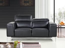 canapé cuir noir 2 places canapé cuir reconstitué pvc agadir 2 places noir 86294 86295