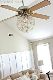 Ceiling Fan For Kitchen With Lights Chandeliers Design Awesome Crystal Chandelier Ceiling Fan Combo