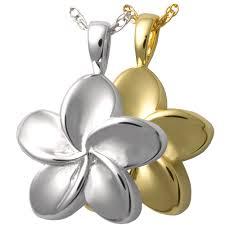 cremation necklaces unique cremation jewelry flower necklaces precious metal
