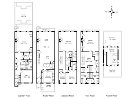 townhouse plan house plan floor for townhome extraordinary new york townhouse