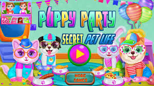 puppy party secret pet life day care game baby cartoons fun