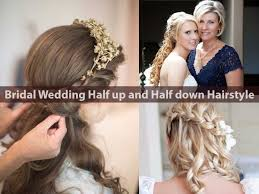 best bridal wedding half up and half down hairstyle hairstyle