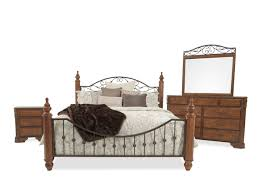 four piece country bedroom set in cherry mathis brothers furniture