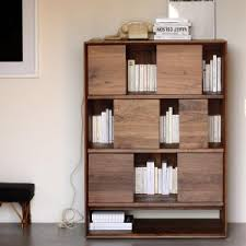 Small Bookcase With Doors Bookcases Solid Wooden Bookcase With Drawers And Shelves Bookshelf