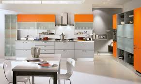 Orange Kitchen Cabinets Italian Orange Color Kitchen Cabinet Design Id501 Modern Italian