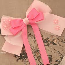 large ribbon princess large ribbon pink bow with flowers alligator hair clip for