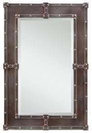 Metal Framed Mirrors Bathroom Rustic Metal Bathroom Mirrors Bathroom Designs