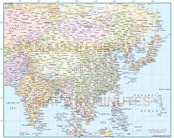 Map Of Se Asia by Digital Vector Map Of East Asia Region Political With Ocean