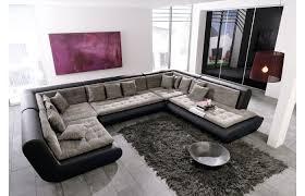 u sofa xxl big sofa l form stoffcouch miami xxl bigsofa mit led beleuchtung