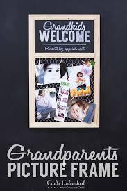 homemade christmas gifts for grandparents photo frame homemade