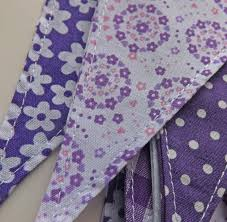 shades of purple bunting tickety boo bunting