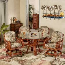 Kitchen Table With Caster Chairs Leikela Rain Forest Tropical Dining Furniture Set