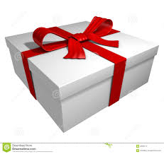 gift box with ribbon white gift box ribbon stock image image 2633111