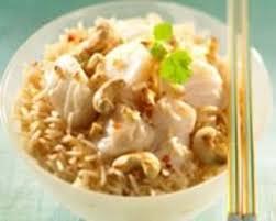 riz cuisiné recette cabillaud sauté au riz et aux noix de cajou