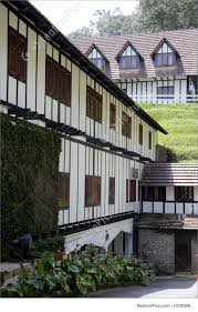 tudor style cottage residential architecture colonial tudor style mansion stock