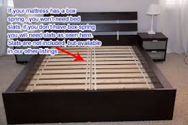 amazon com ikea hopen queen bed frame black brown kitchen u0026 dining
