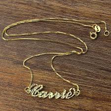 Custom Name Necklace Gold Name Necklaces Gold Using Name Necklaces For Showing Your Love