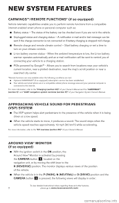 nissan leaf yellow warning light nissan leaf 2015 1 g quick reference guide