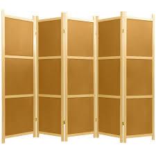 Room Dividers At Home Depot - 6 ft natural 5 panel cork board room divider ss cork 5 panel