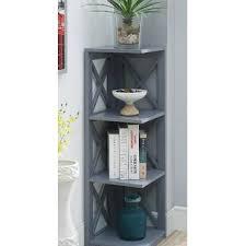 Corner Bookcases Gray Corner Bookcases You Ll Wayfair